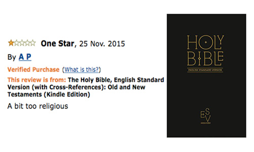 amazon review the bible