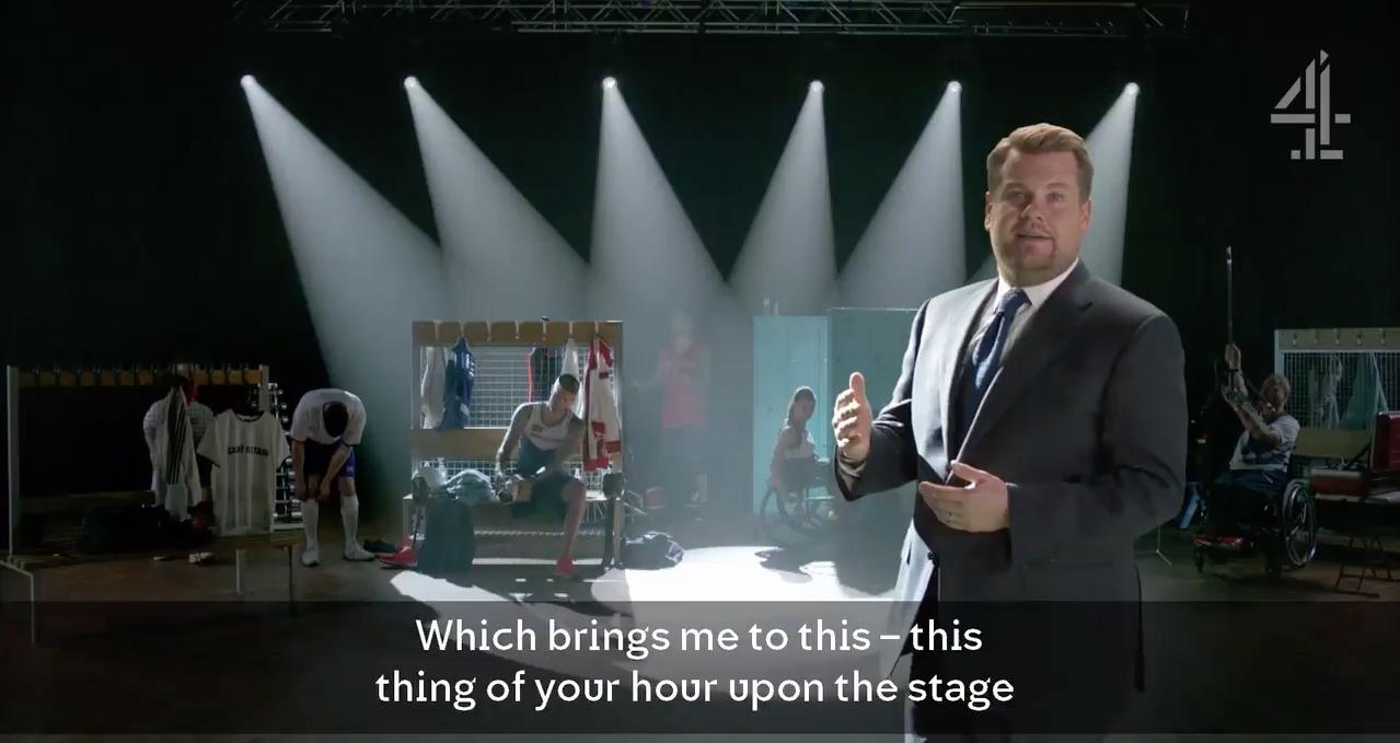 James Corden Paraolympic Ad