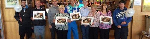Linda and the guys at Carnwath golf club