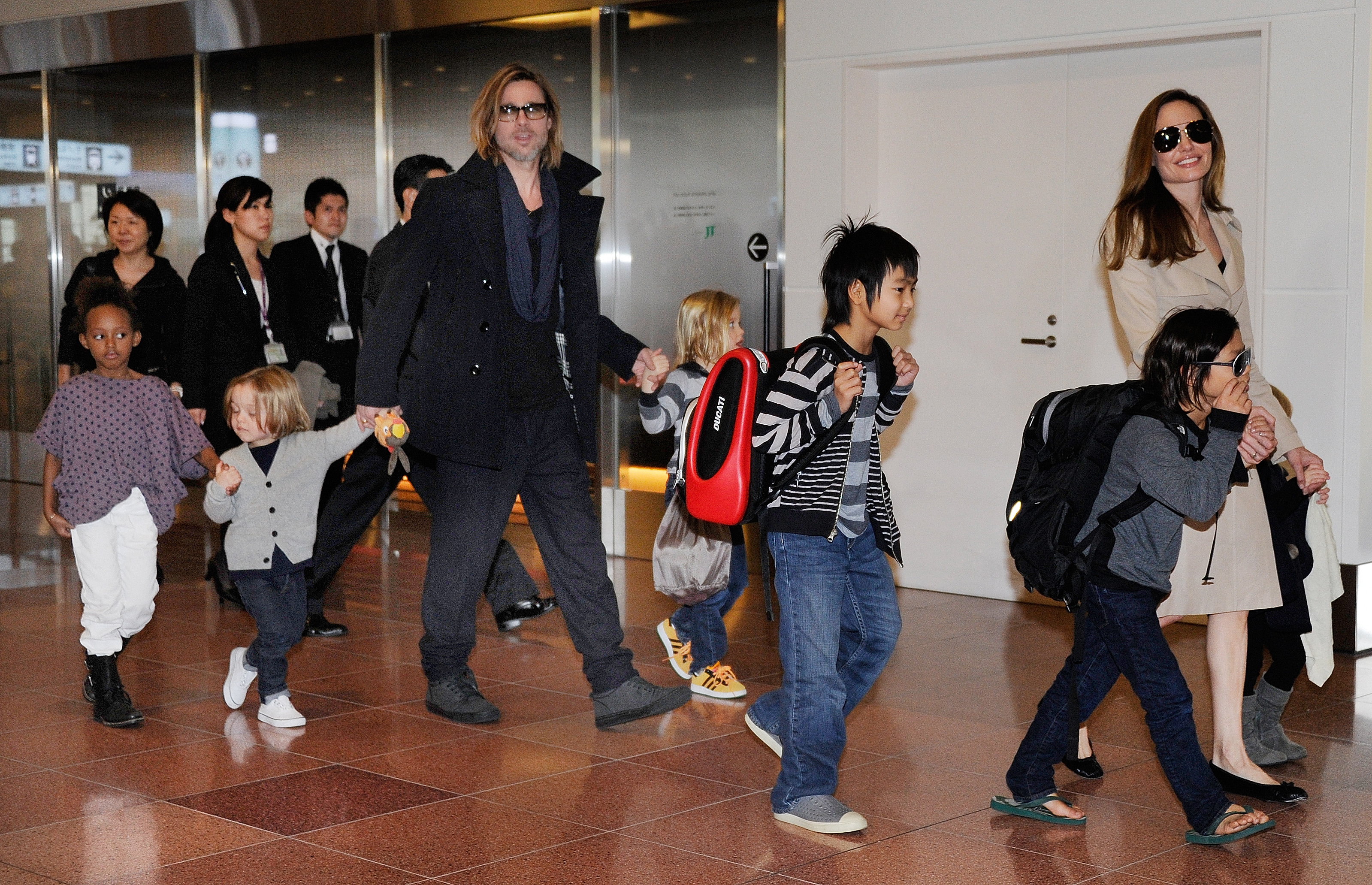 Brad, Angelina and their six children