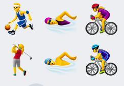 Gender diverse sport emoji's