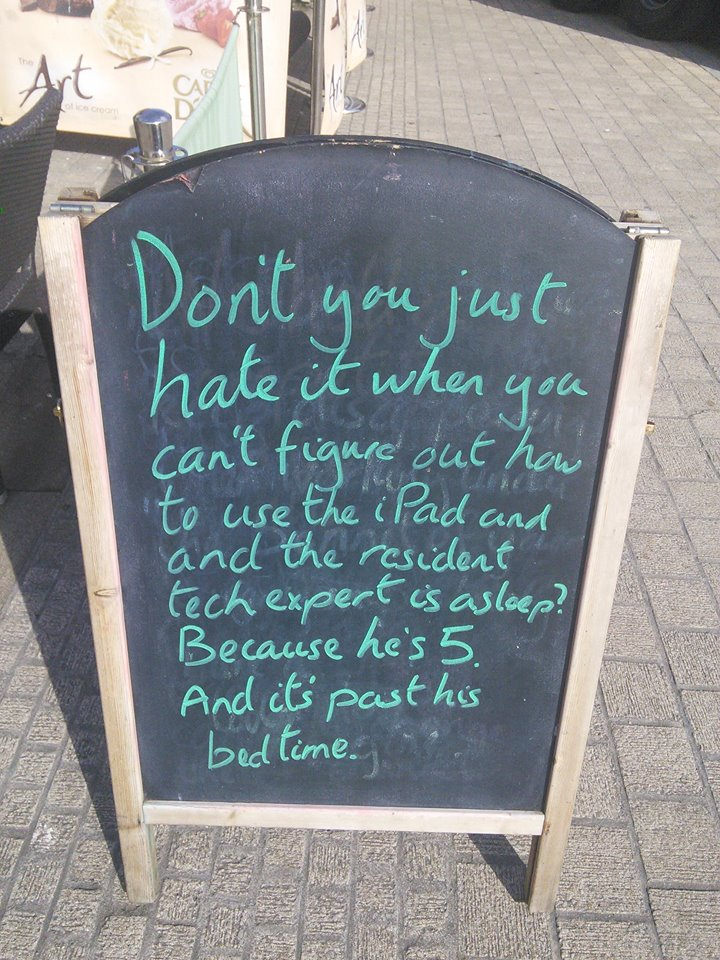Inversnecky Cafe Sandwich Board Jokes 1