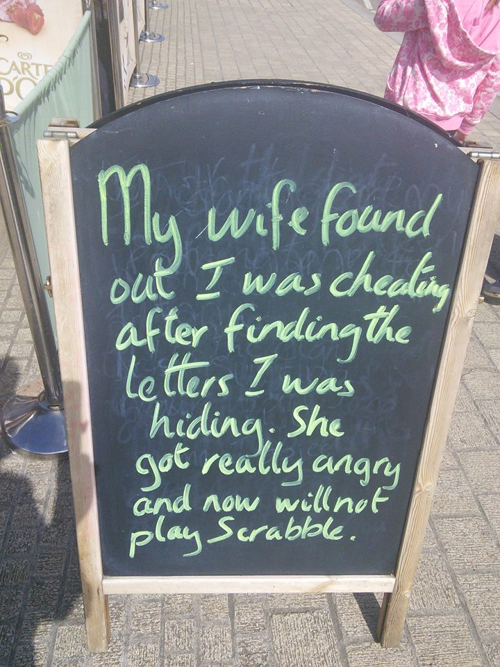 Inversnecky Cafe Sandwich Board Jokes 5