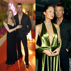 Madame Tussauds Brad and Jen and Brad and Angelina