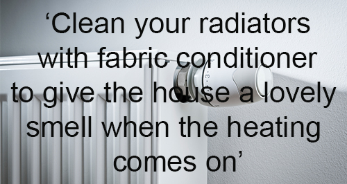 Quick Cleaning Hack 1 - Radiators