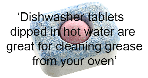 Quick Cleaning Hack 3 - Dishwasher Tablets