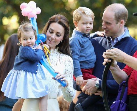 Princess Charlotte, mum and dad