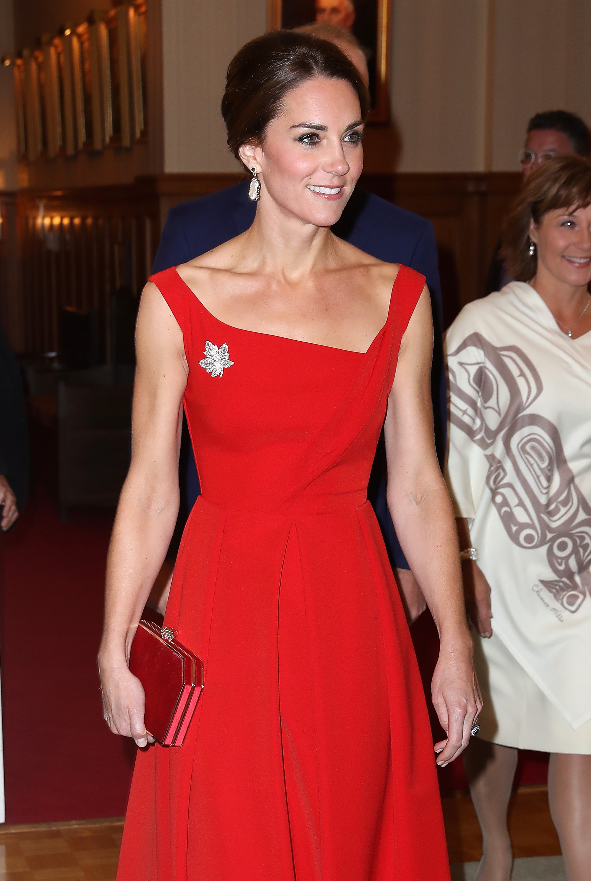 Catherine Middleton in a red dress