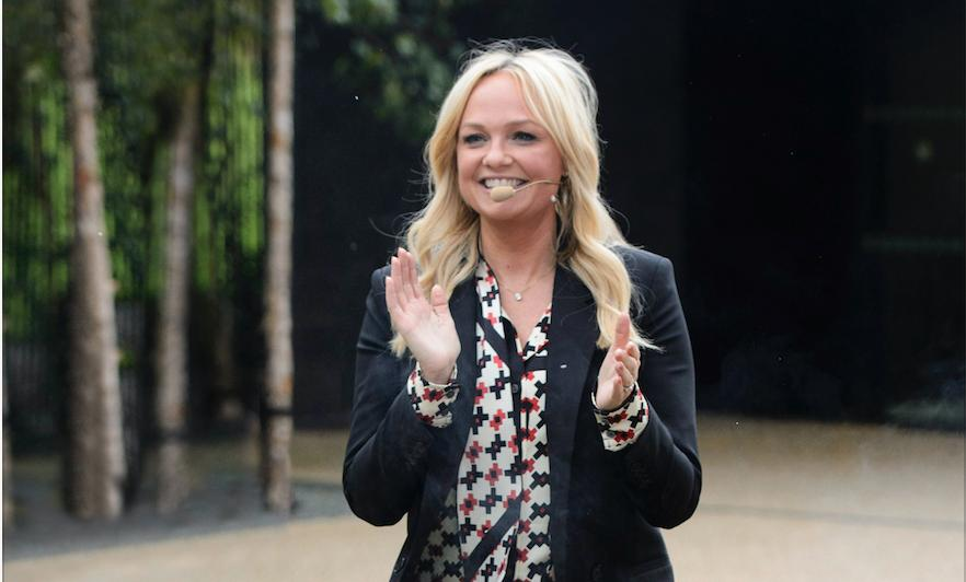 Emma Bunton prepares for her fire walk