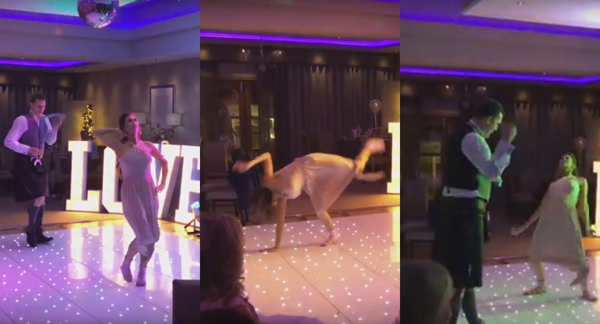 Watch Bridesmaid Demolish Best Man In Wedding Danc