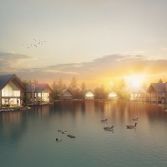 Artists impression of lake at Camel Creek