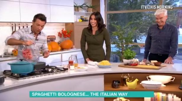 Gino D'Acampo And Christine Bleakley Flirting on T