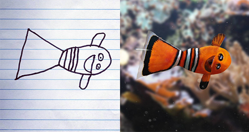 Dad Brings Sons Drawings To Life
