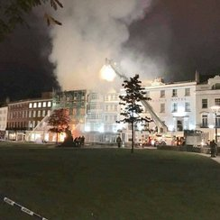 Exeter Cathedral Green fire