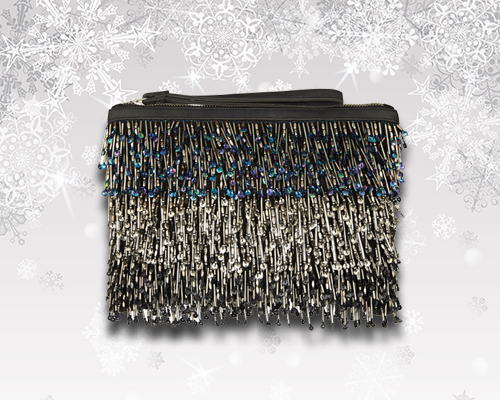 Accessorise Gatsby Beaded Clutch - £35