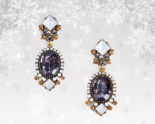 Christmas Accessories: Boohoo Earrings