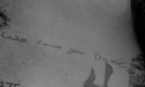 David Beckham Tattoo We Love You Daddy