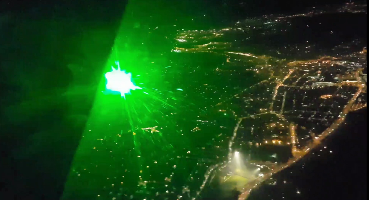 Helicopter Laser Attack