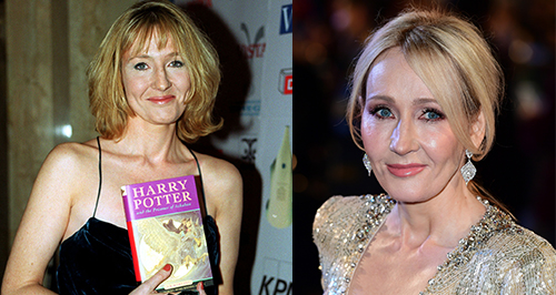 JK Rowling now and then