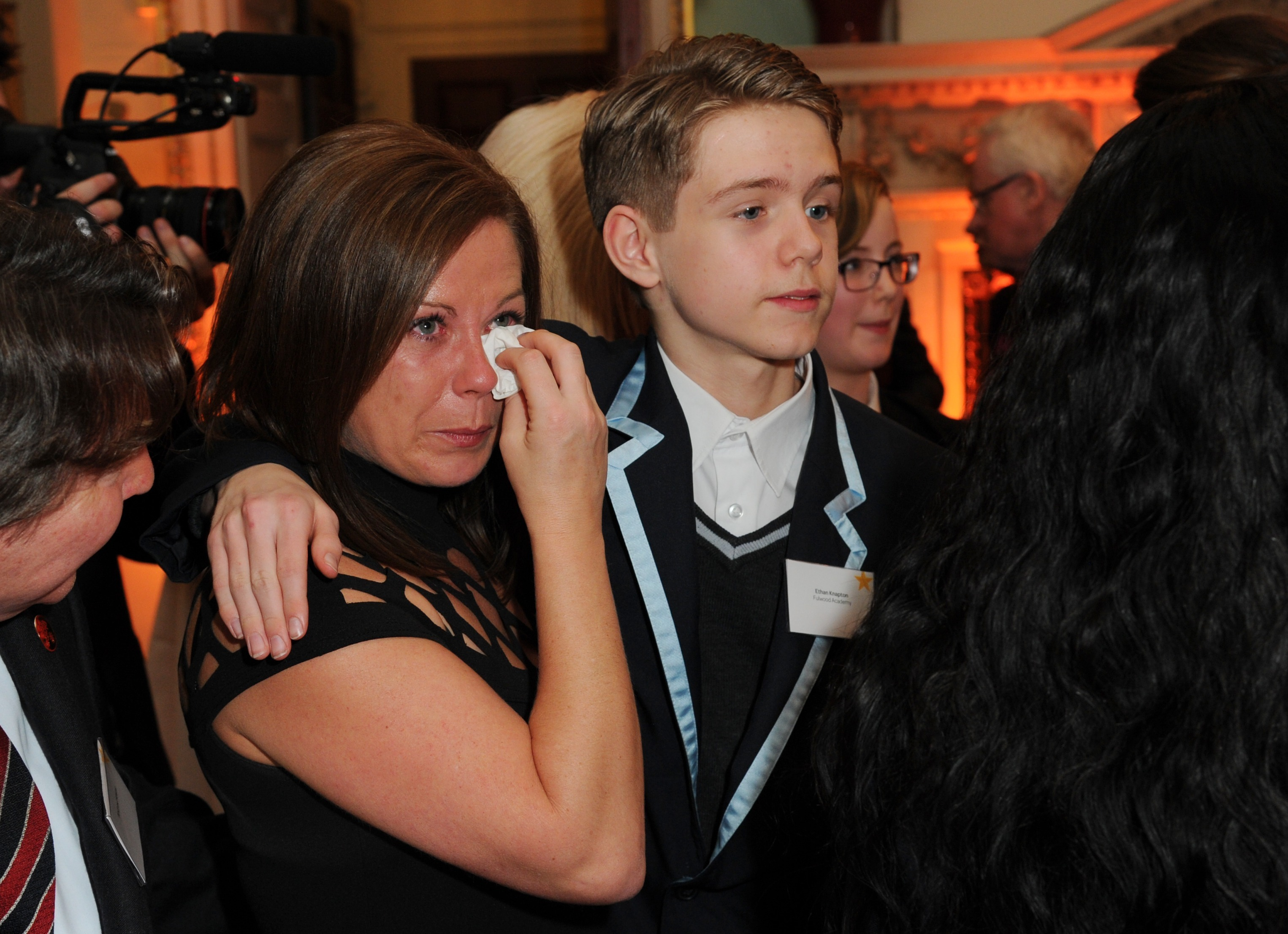 Woman Comforted By Kate At Place2Be Awards