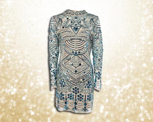 Boohoo Silver Sequin dress £35
