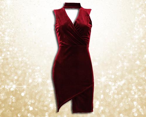 Boohoo Velvet Choker Dress £20