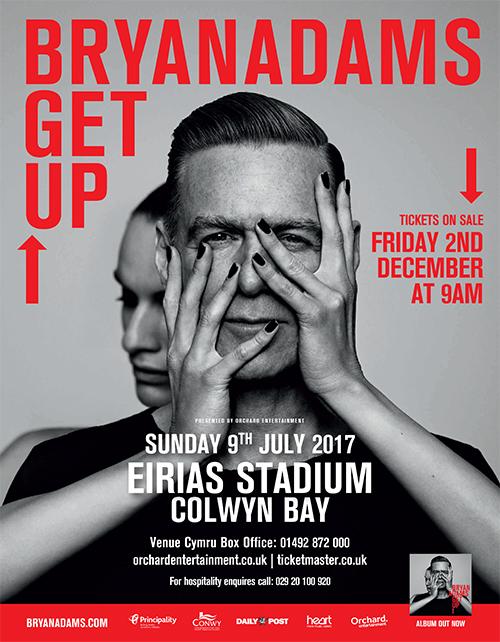 bryan adams get up tour poster