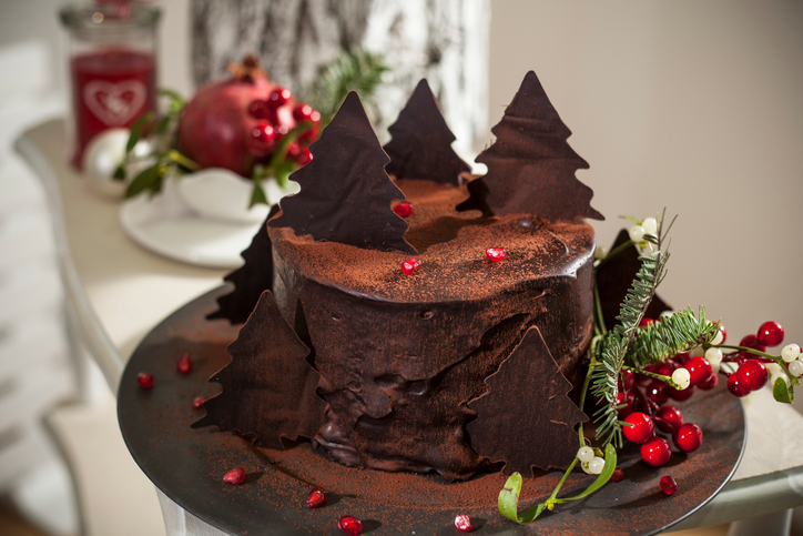 Chocolate Christmas Cake Decorating Ideas : Decorate A Chocolate Cake Like A Pro With These Festive ...