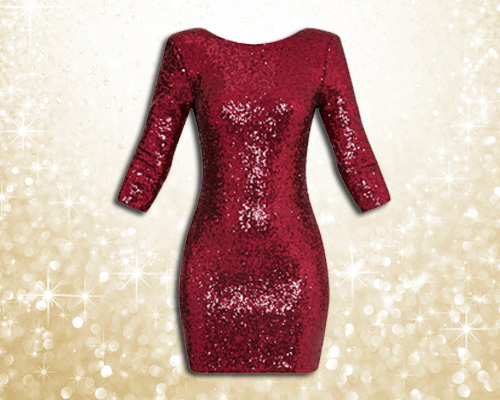 Eida Sequin Wine Bodycon Dress £45
