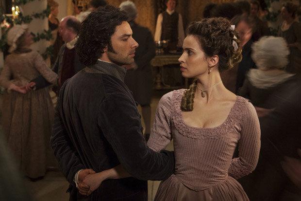 Elizabeth and Ross dancing Poldark