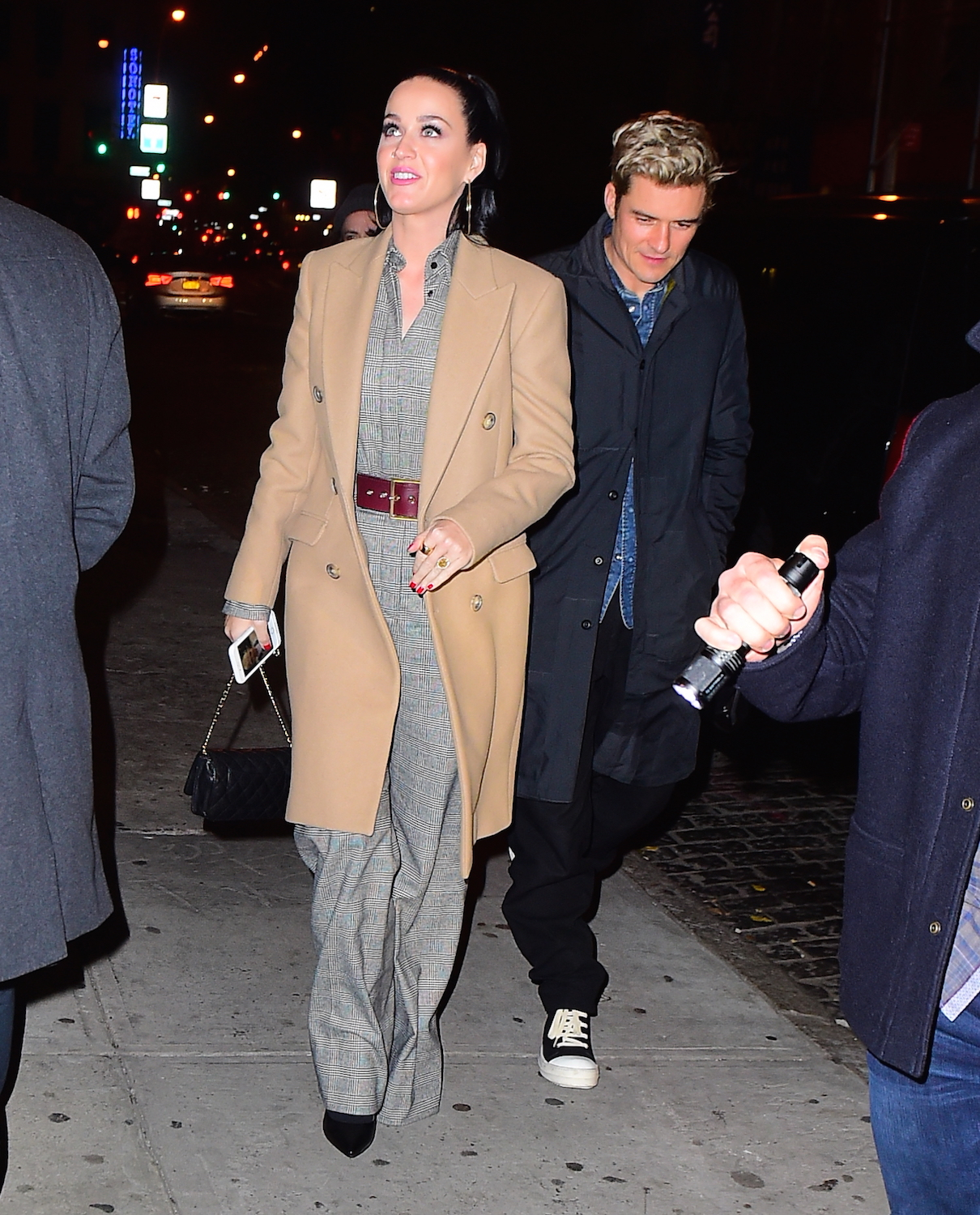 Orlando Bloom with Katy Perry wearing engagement r