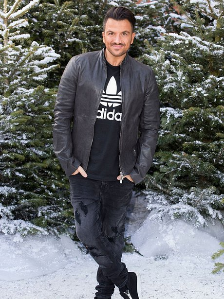 Peter Andre in the snow at the Ideal Homes Show 20