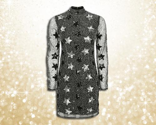 Topshop star glitter dress
