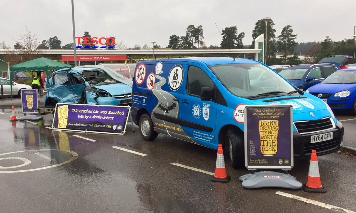 hants car crash display