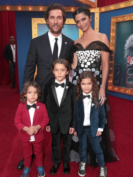 Matthew McConaughey and Camila Alves and children