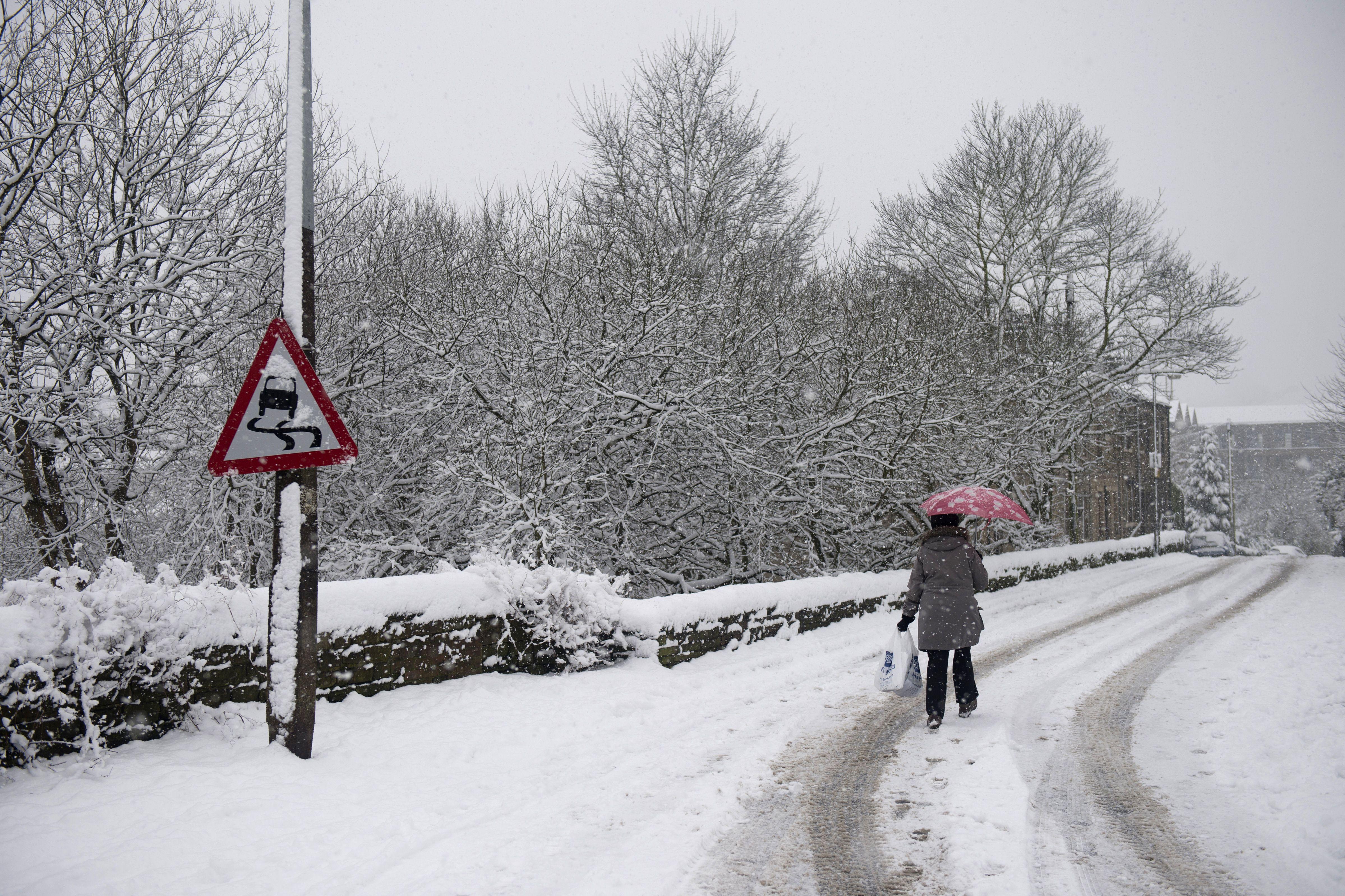 Balloch Scotland snow