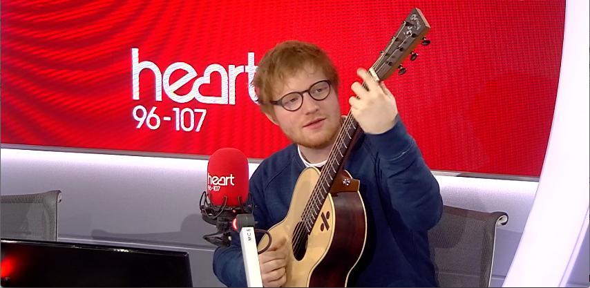 Ed Sheeran in Heart Studio