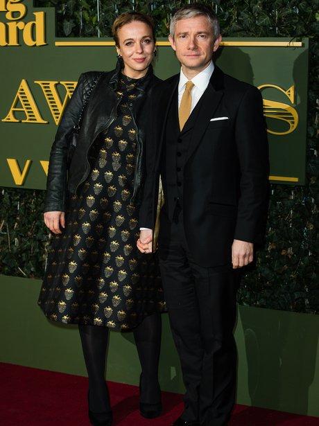 Martin Freeman and Amanda Abbington 2015