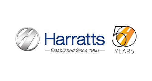 Harrats Logo - 50 Years
