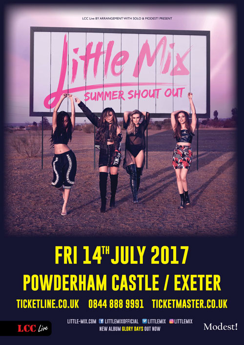 Little Mix Powderham castle poster