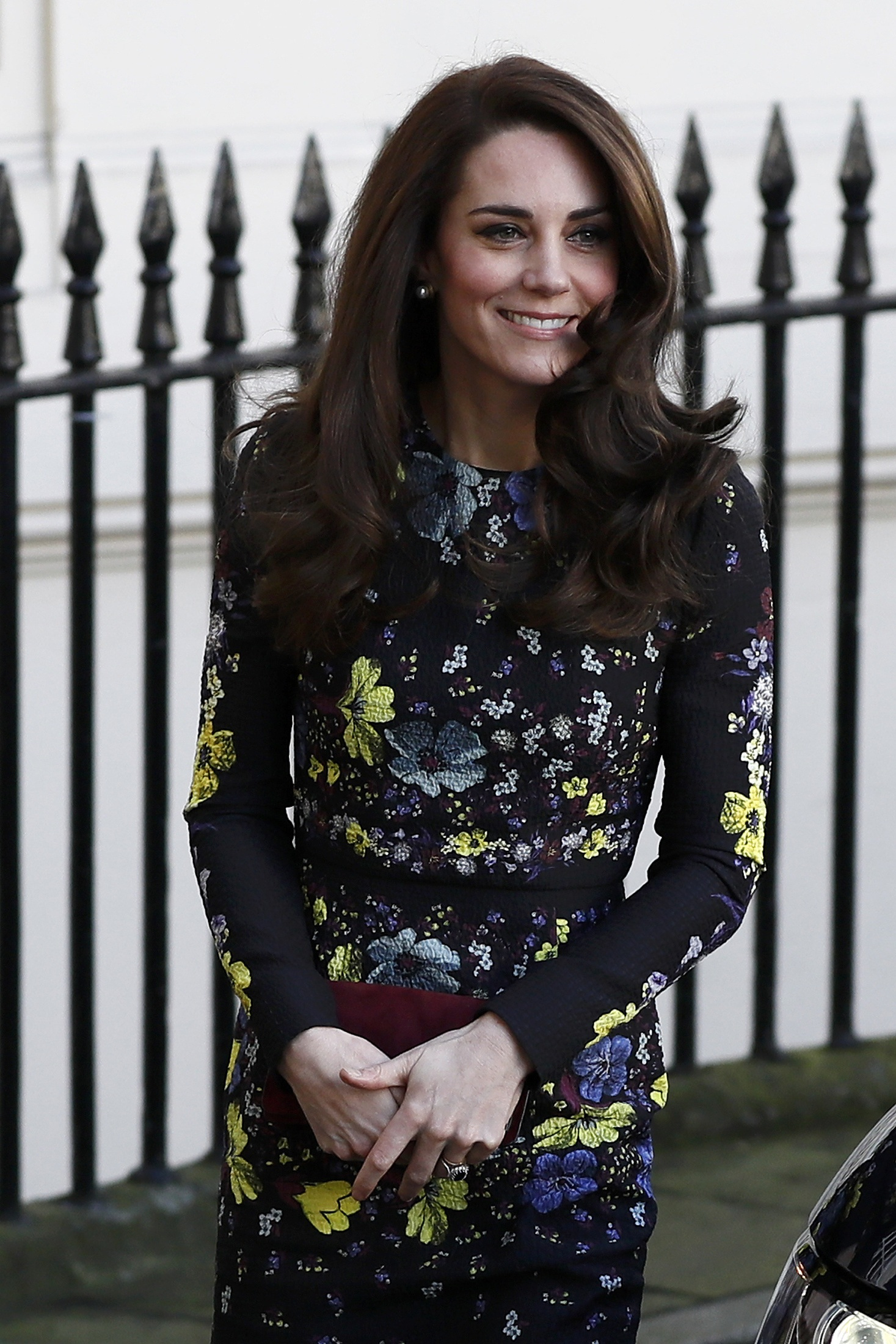 The Duchess of Cambridge arriving at the Institute