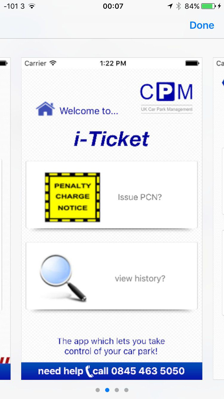 Car Parking Ticket App