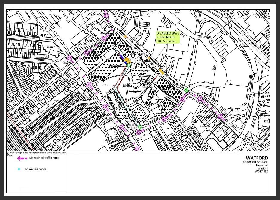 Watford Road Closures