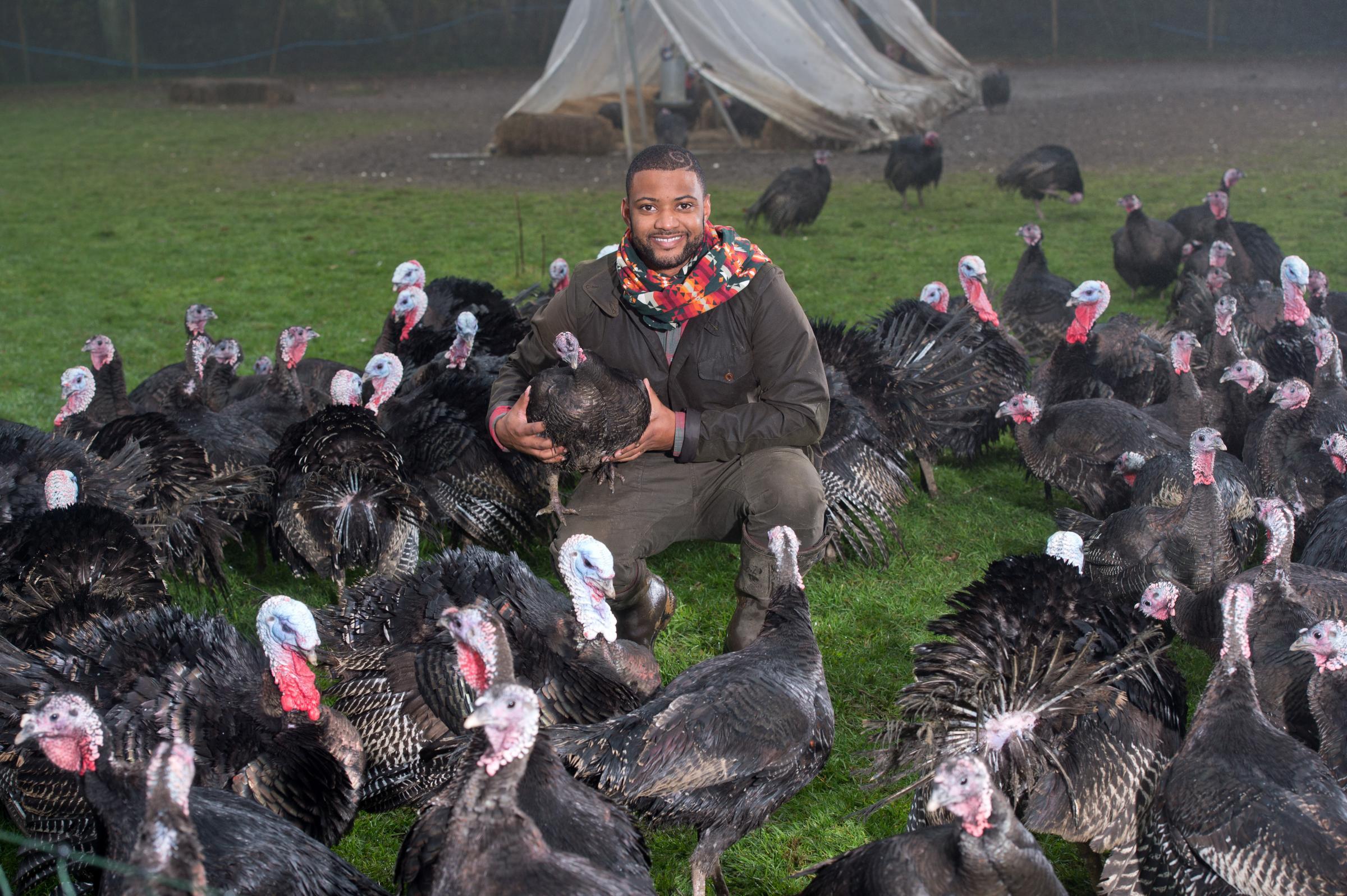 Turkey farmer JB