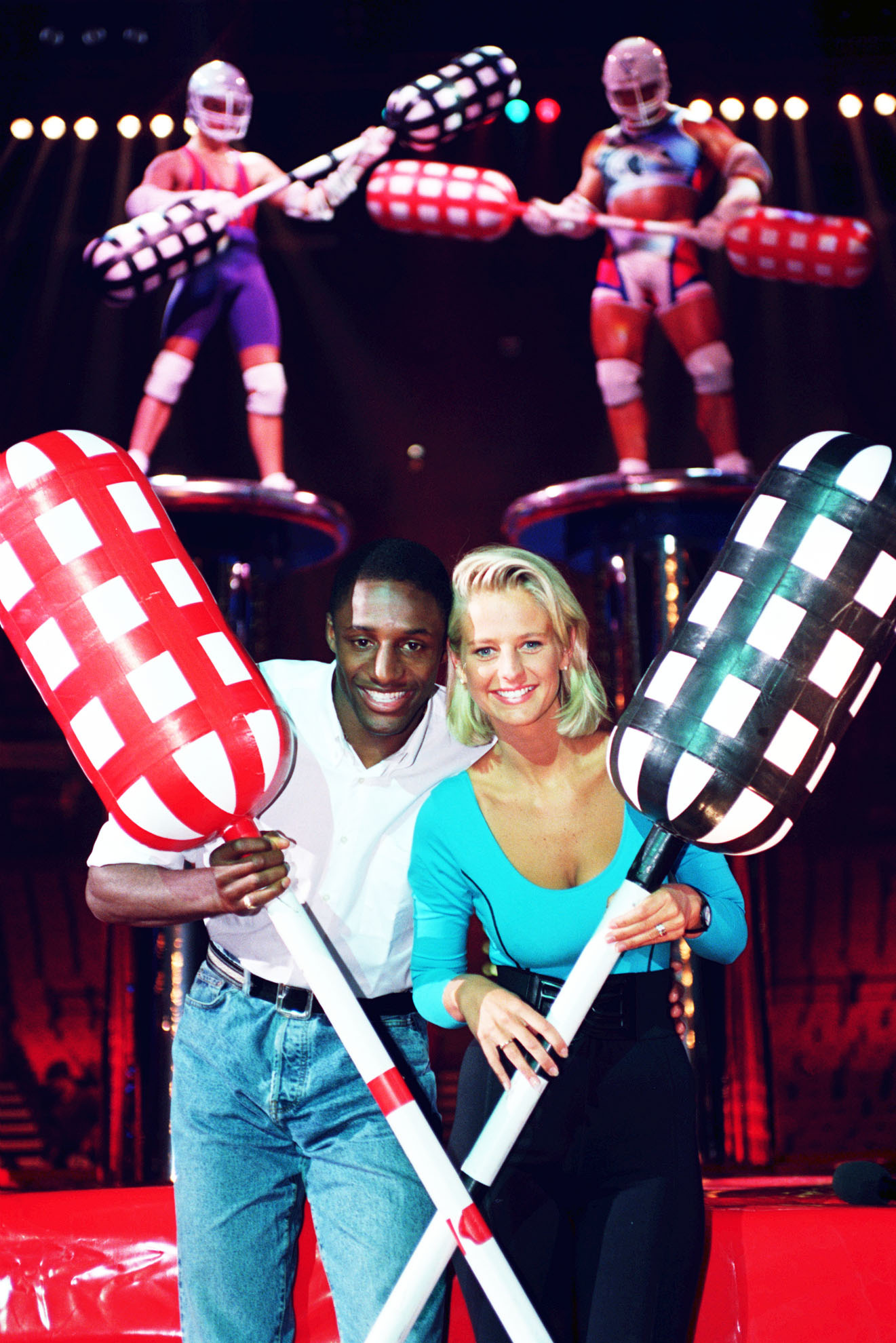 Ukrika Jonsson and John Fashanu Gladiators
