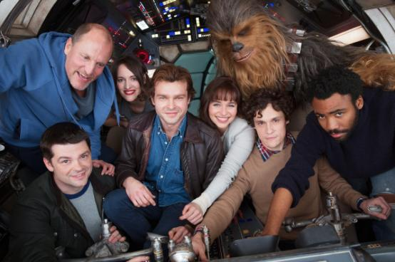 New Star Wars cast on set