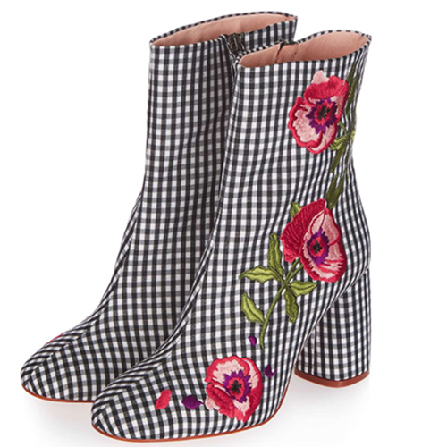 Topshop Gingham Boots