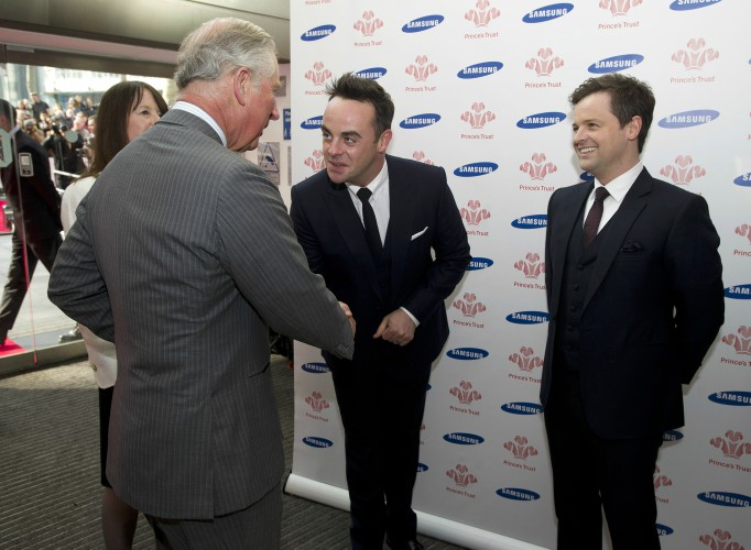 Ant, Dec and Prince Charles