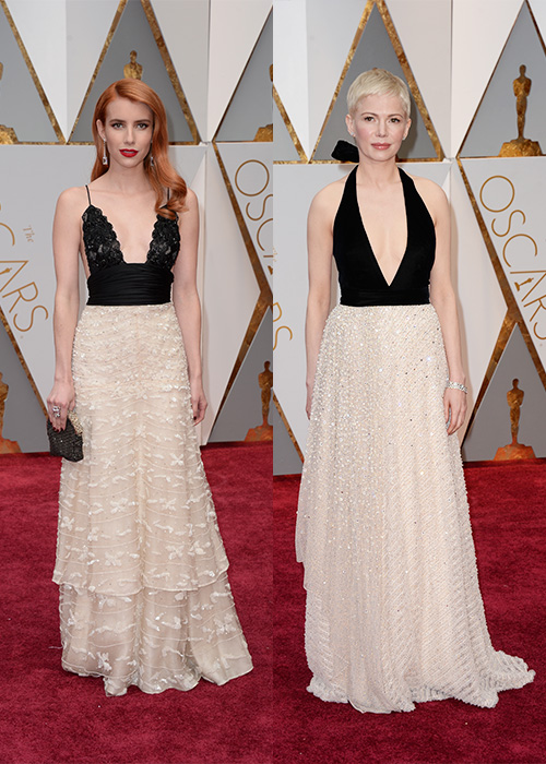 Oscars Outfit Clash