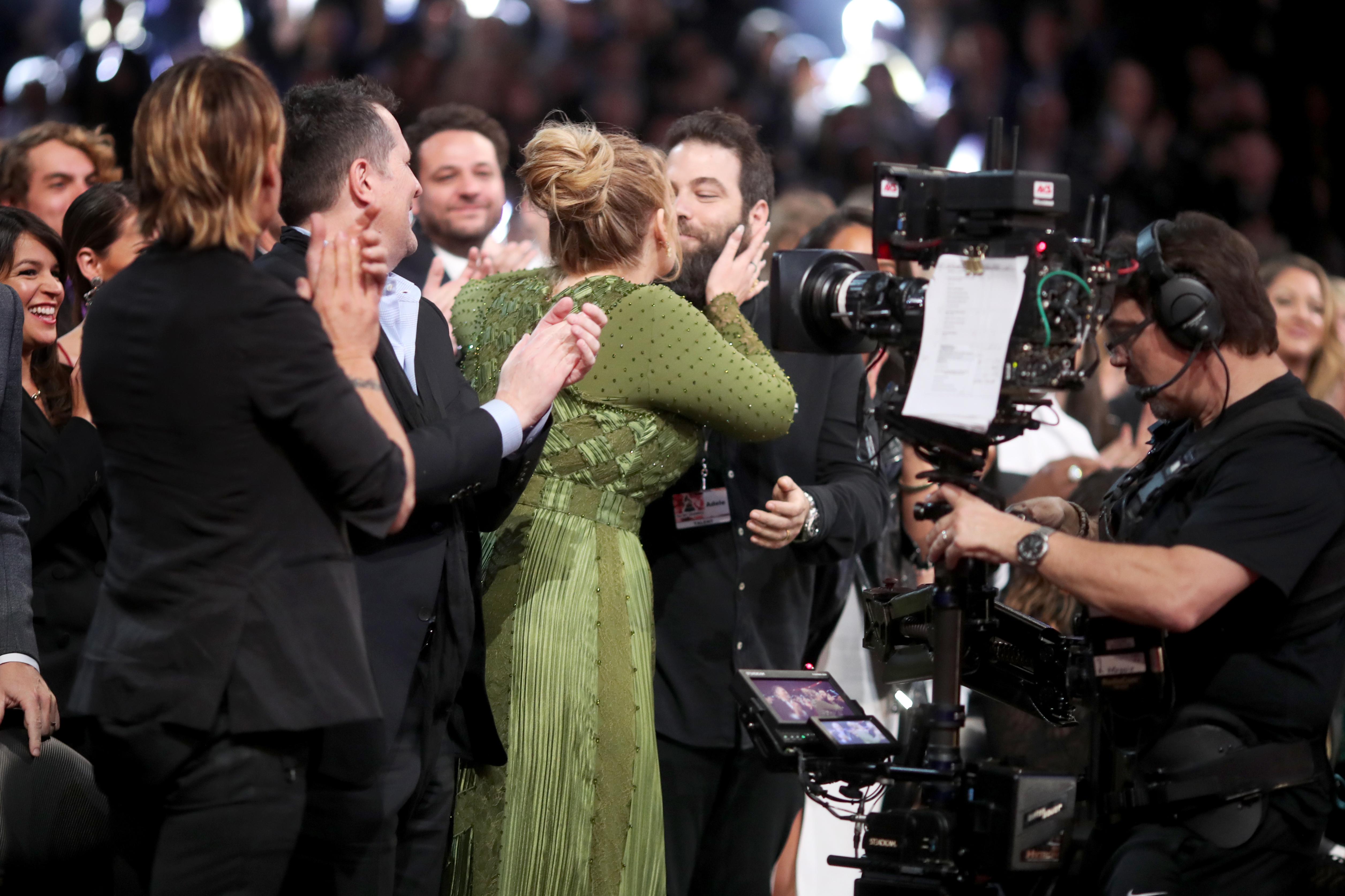 Adele and Simon Konecki Grammys